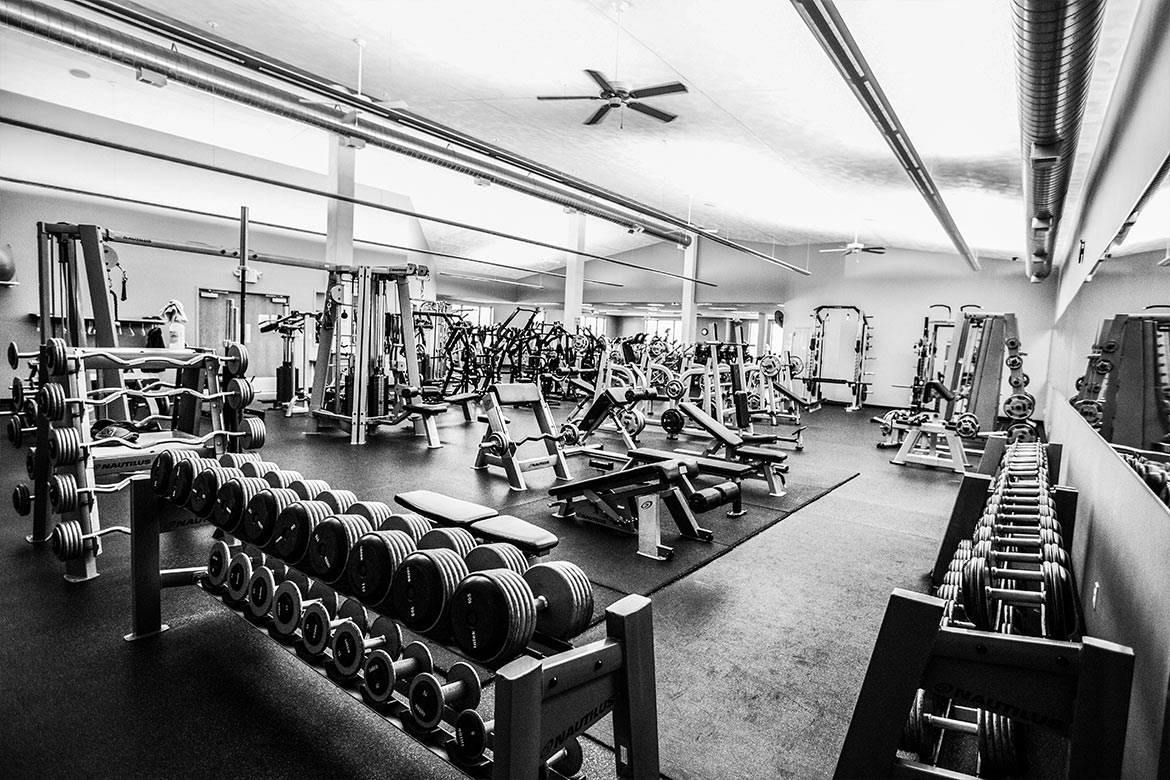 10,000 sq. ft. of fitness and weight equipment.