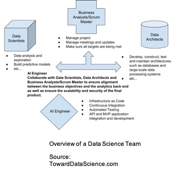 Overview of a data science team