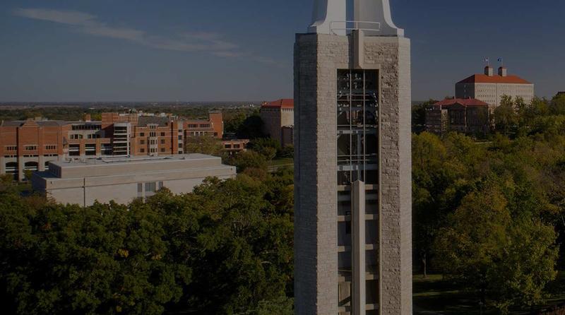 Aerial view of the University of Kansas