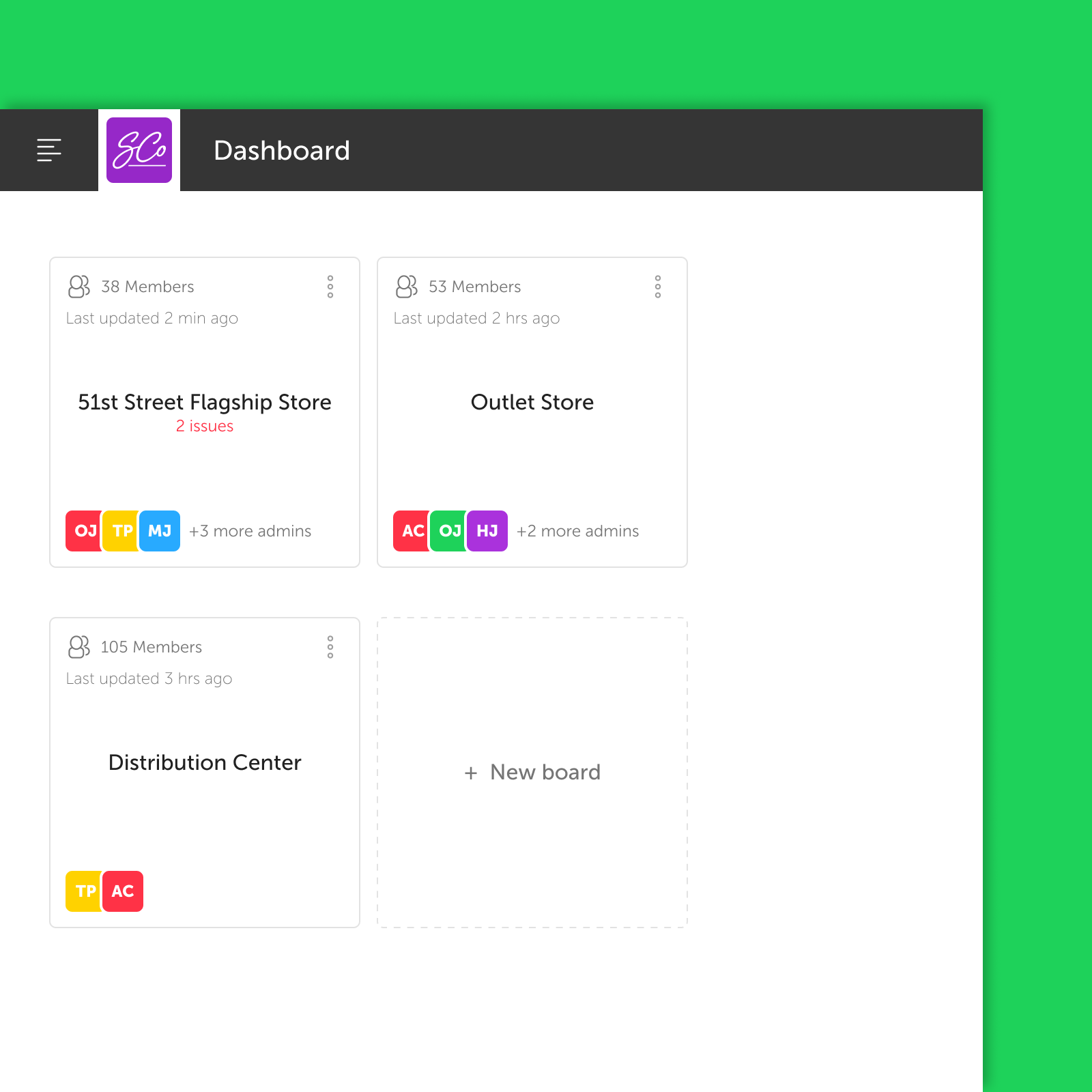 Floown Planner - Dashboard