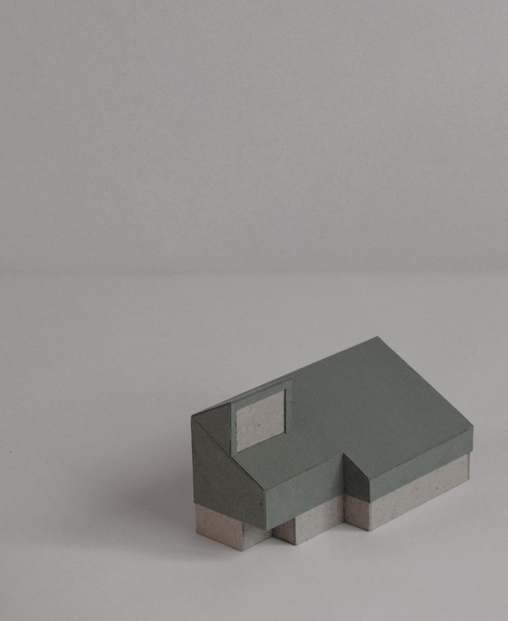 Scale model of the proposed office and workspace on Claylands Avenue designed by From Works.
