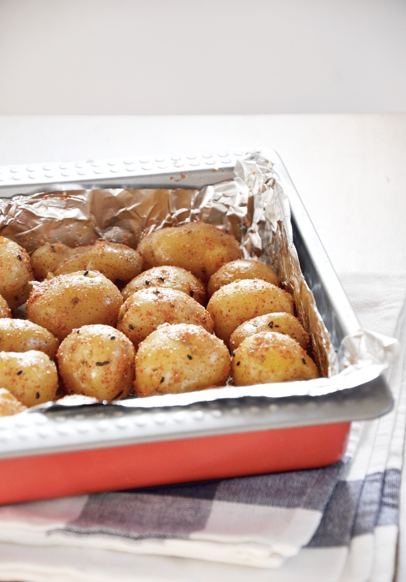 Roasted New Potatoes with Shichimi Seasoning