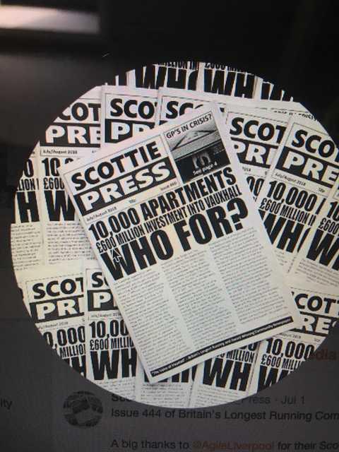 SCOTTIE PRESS - BRITAINS LONGEST RUNNING COMMUNITY NEWSPAPER follows the Story of Save Waterloo Dock. scottiepressarchive.org.uk