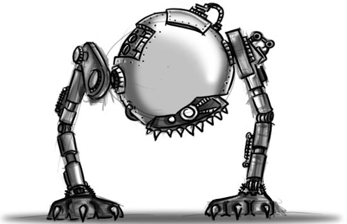 Robot Character Sketch