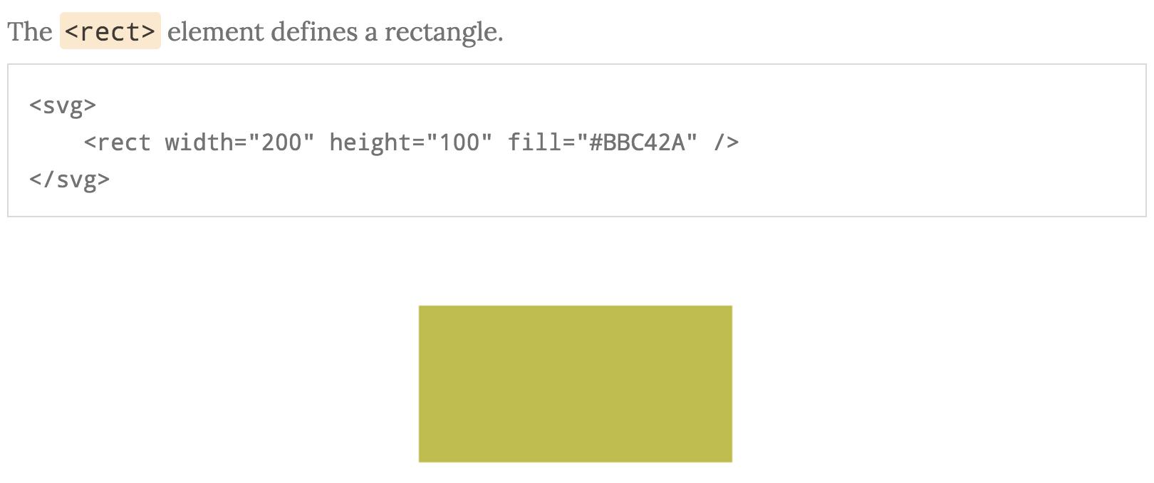 Screenshot SVG rectangle code