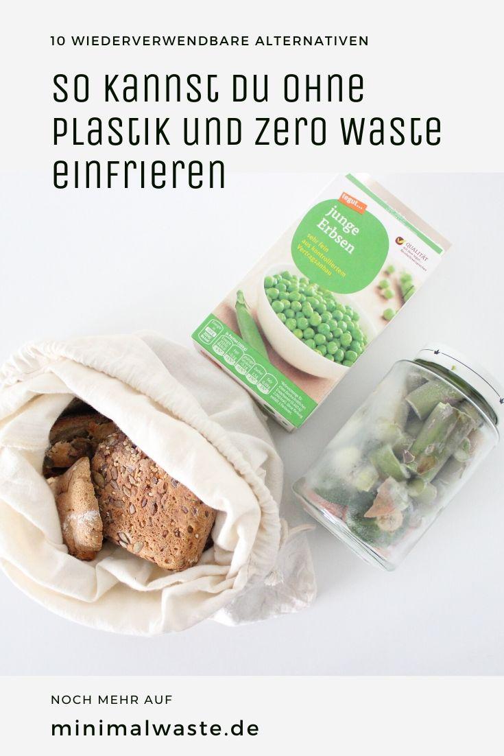 Pinterest Cover zu 'So kannst du ohne Plastik und Zero Waste einfrieren'