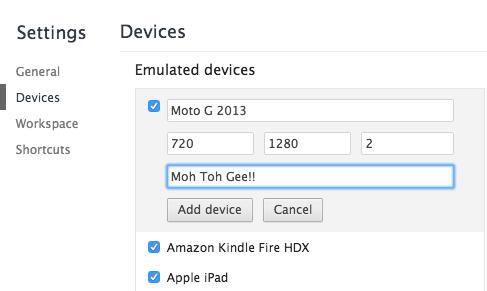 add custom device