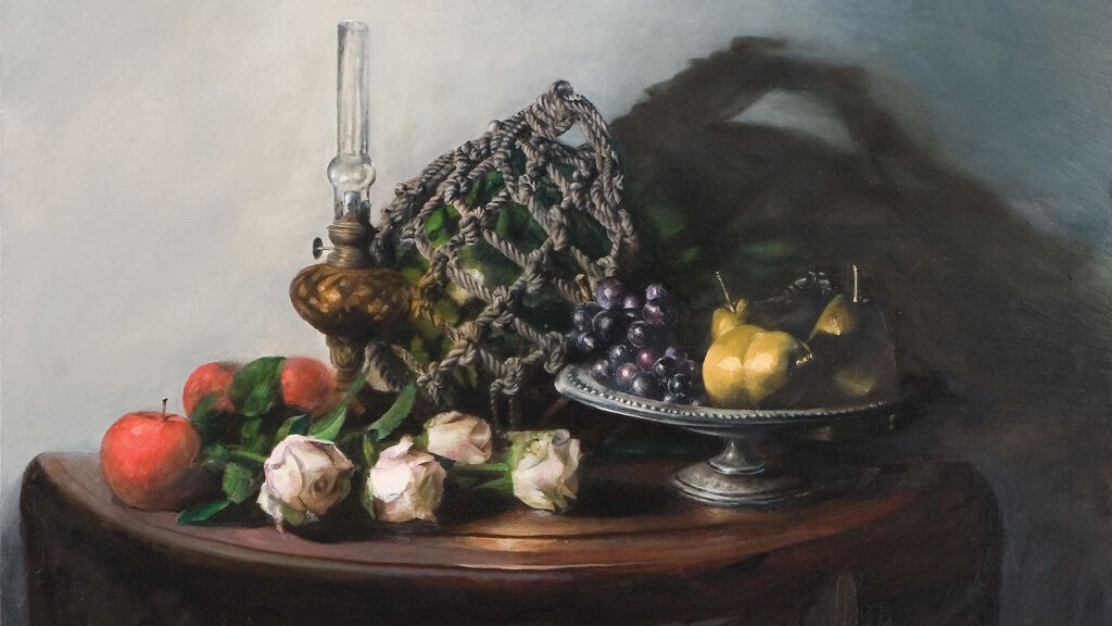 Still-life with lamp