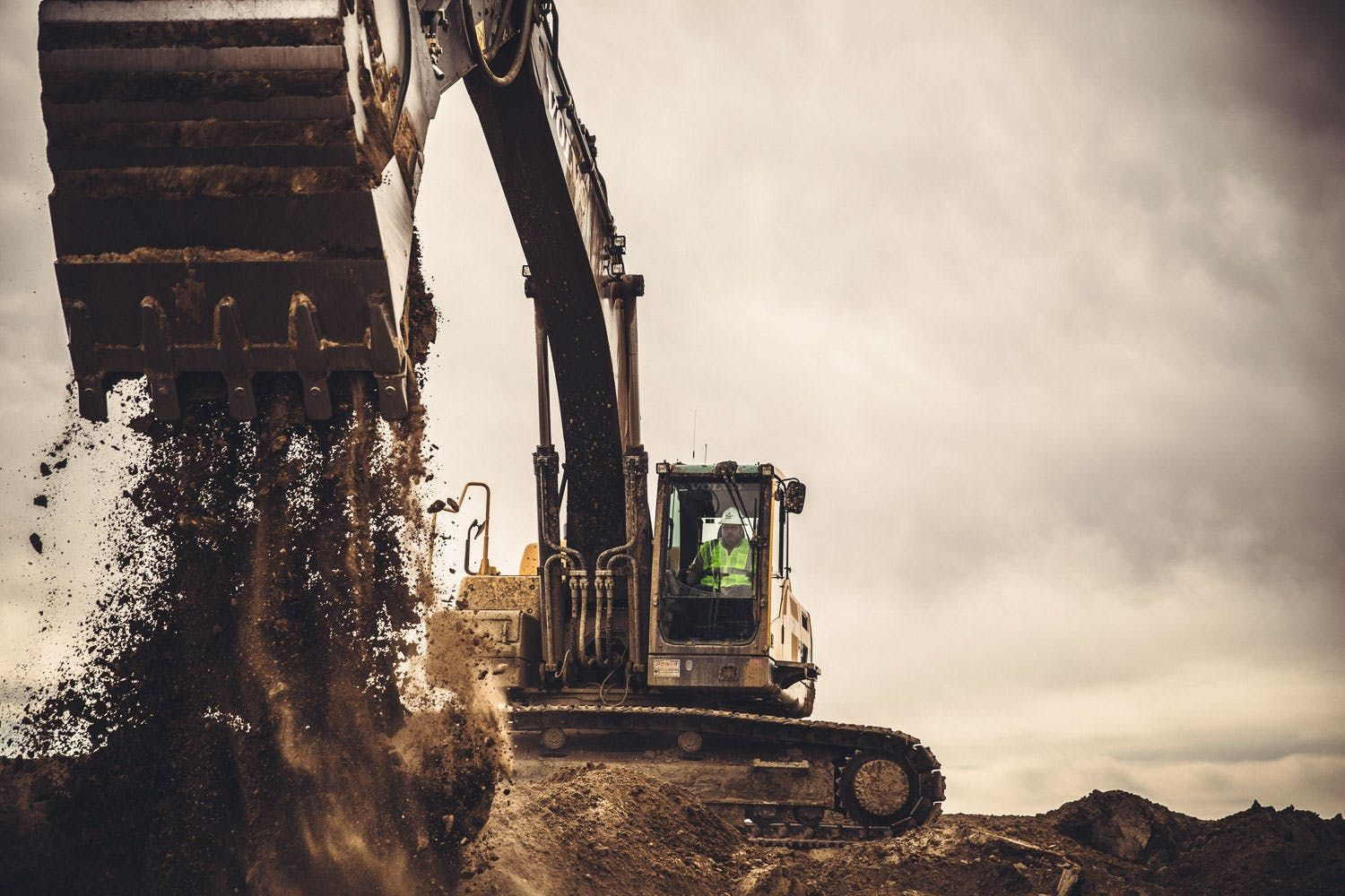 Image of an excavator