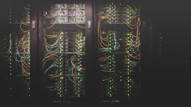 Un rack de serveurs