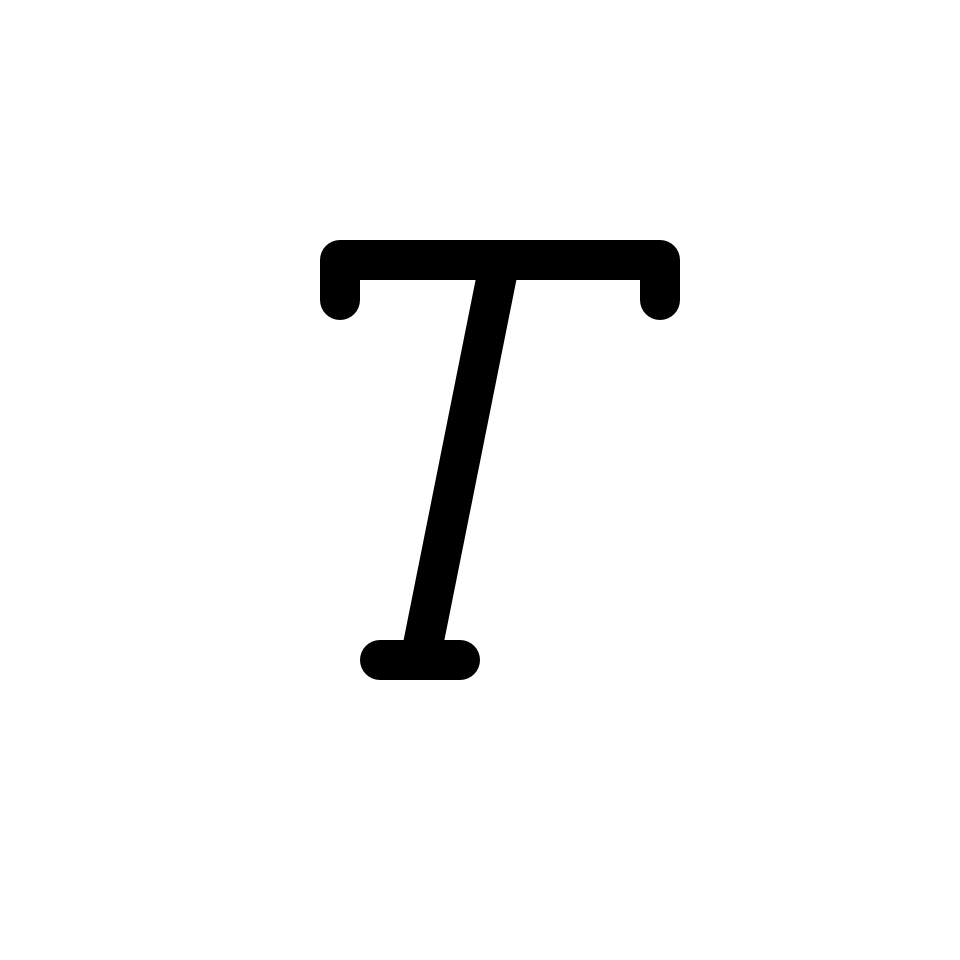 Text font italic