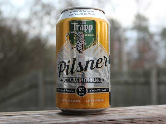 Von Trapp Brewing brews a Pilsner (Bohemian Style Lager) that is smooth and crisp.