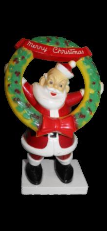 Santa with Wreath photo