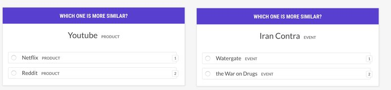 Which one is more similar? Youtube vs. Netflix vs. Reddit. Iran Contra vs. Watergate vs. the War on Drugs.