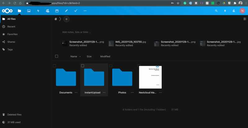 NextCloud self hosted