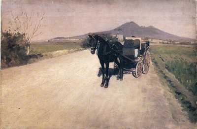'A Road in Naples' by Gustave Caillebotte (1872)