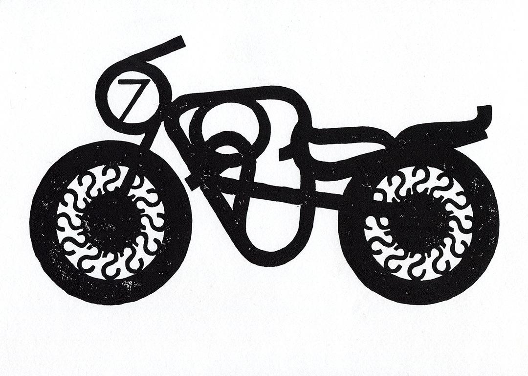 Type Bike: Futura block print