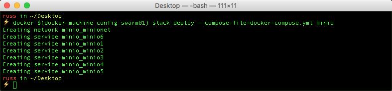 Playing with Docker 1 13 & Minio