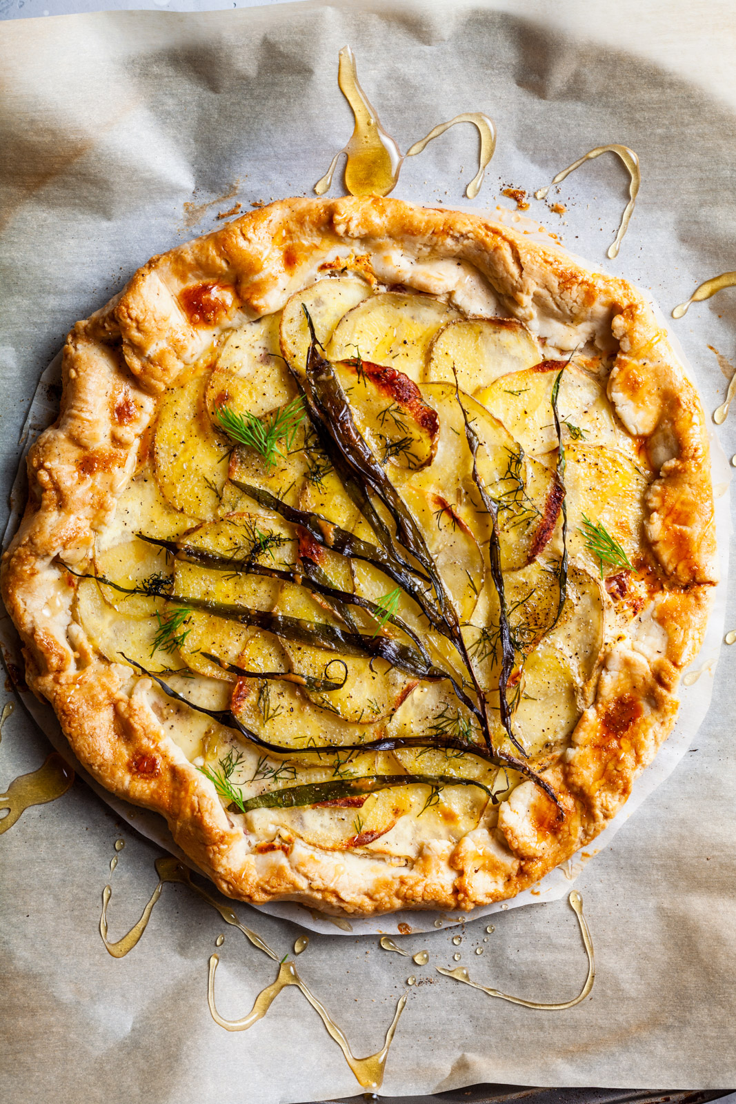 Rustic Ramp And Potato Tart