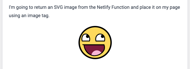 Screenshot of the smiley included in page