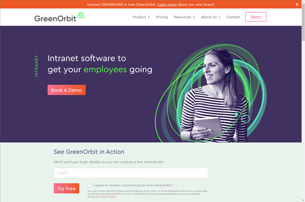 Screenshot of GreenOrbit