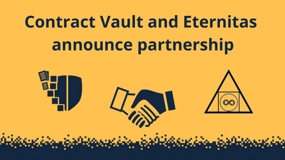 CONTRACT VAULT AND ETERNITAS ANNOUNCE PARTNERSHIP