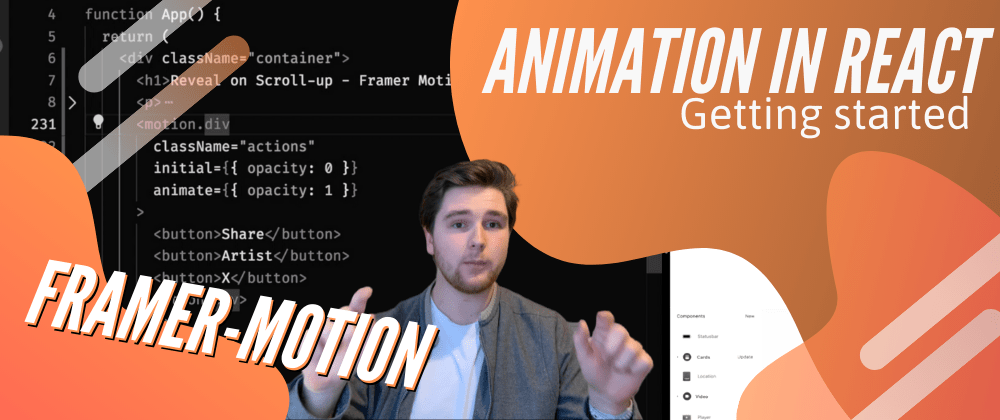 Title card. Framer Motion: Animation in React, Getting Started with Seth Corker