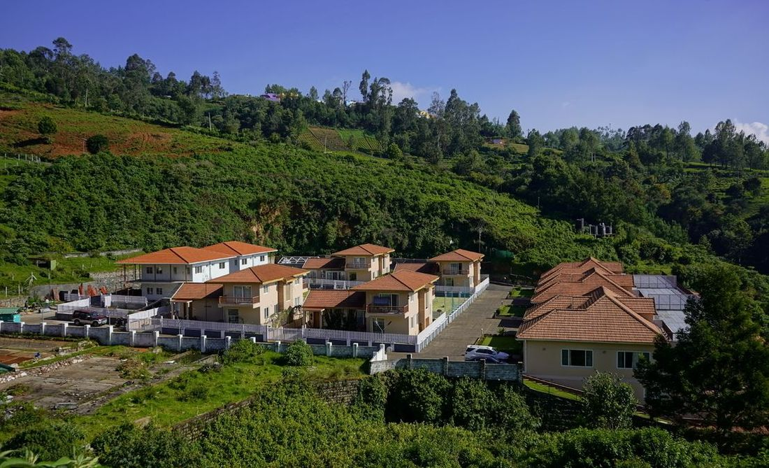 Streamide, Ooty, as seen from a hill around the property taken - Oct 2020