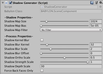 Shadow Map Component