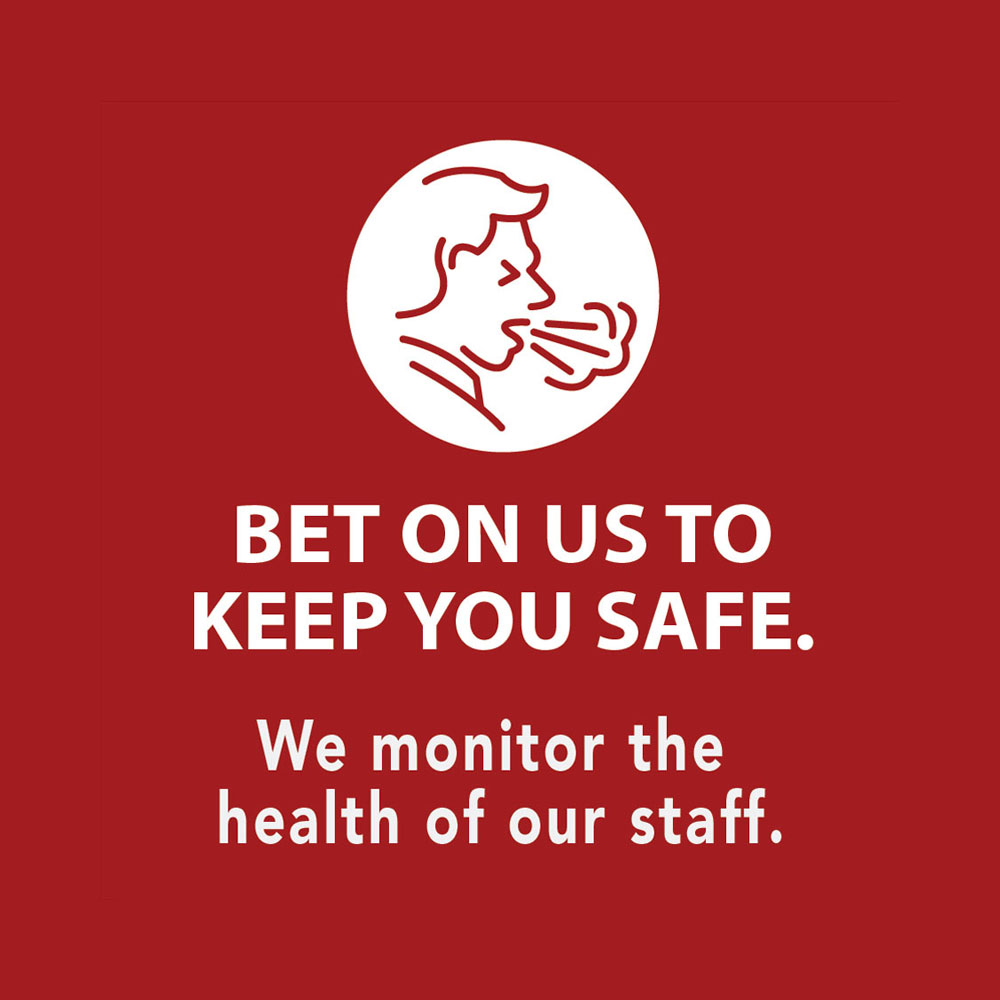 Ho-Chunk Gaming Nekoosa bet on us to keep you safe graphic