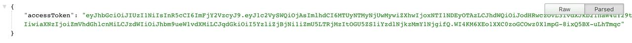 Successful OAuth verification