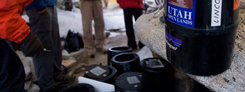 El Cap bear cans