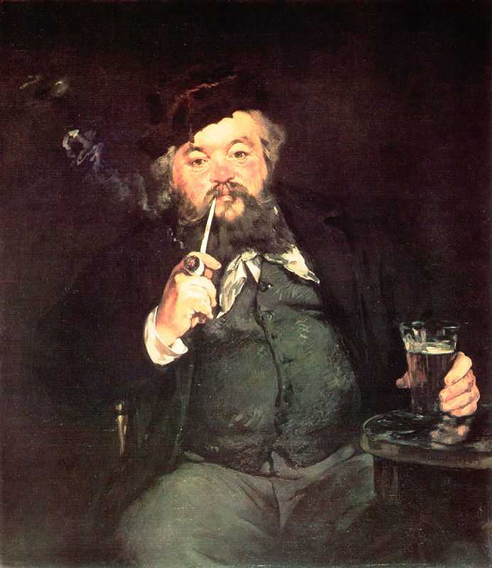 'A good glass of beer' by Edouard Manet, 1873 which had scored a rare Salon success