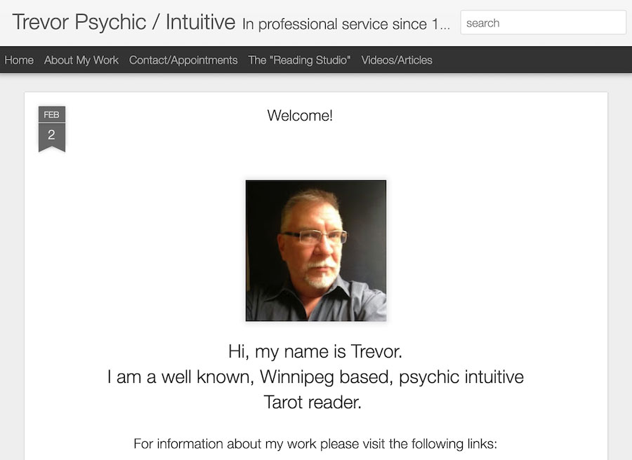 Home Page of Trevorsense Website