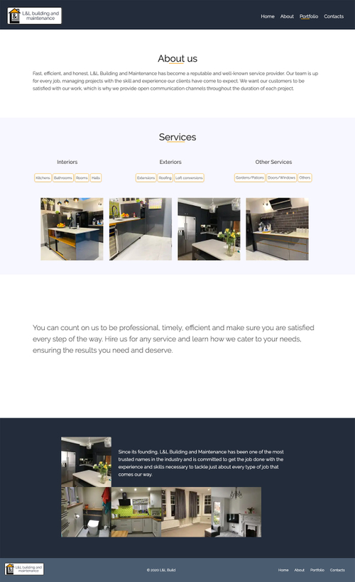 LandL Build About Page