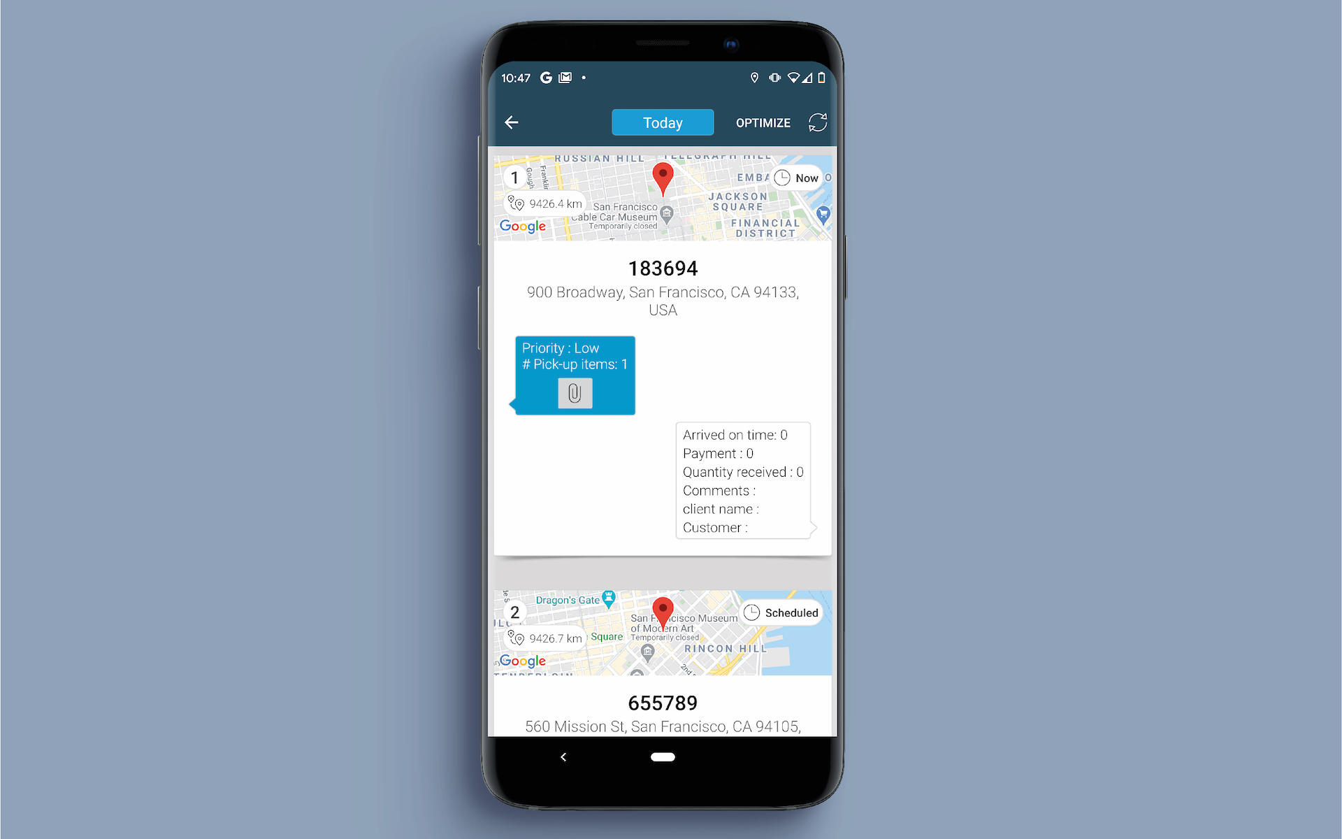 App screenshot for Hellotracks 3
