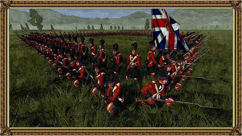The British/Scottish Blackwatch in battle formation