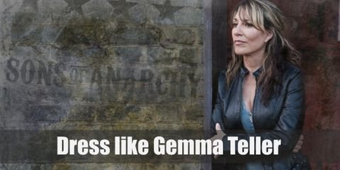 Gemma Teller is one type of mother you wouldn't want to have. Gemma's style is very edgy like her tough personality. She wears a lot of black and embodies the ultimate biker queen that she is.
