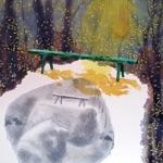 "Kristring, Estonia, ""Spring I"". Canvas, acrylic, 65x65 cm, 2008."
