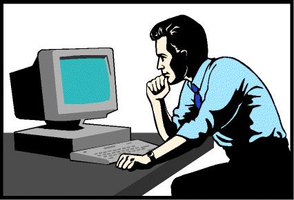 Programmer Staring at Computer