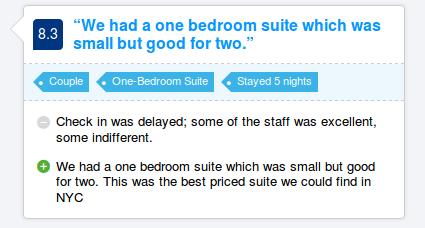 A Booking.com hotel review