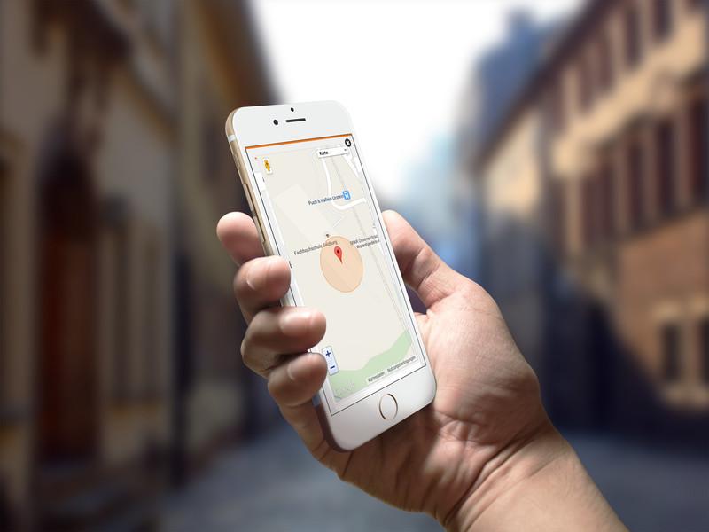 Arbeitszeiterfassung GPS Standortermittlung