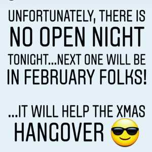 No Open Night tonight. If you do however fancy a pint at our taproom we are open till 7pm this evening...🍻