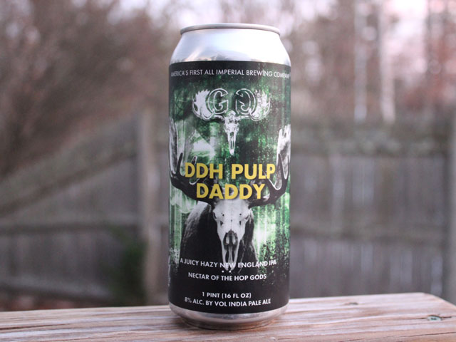DDH Pulp Daddy, a New England IPA brewed by Greater Good Imperial Brewing Company