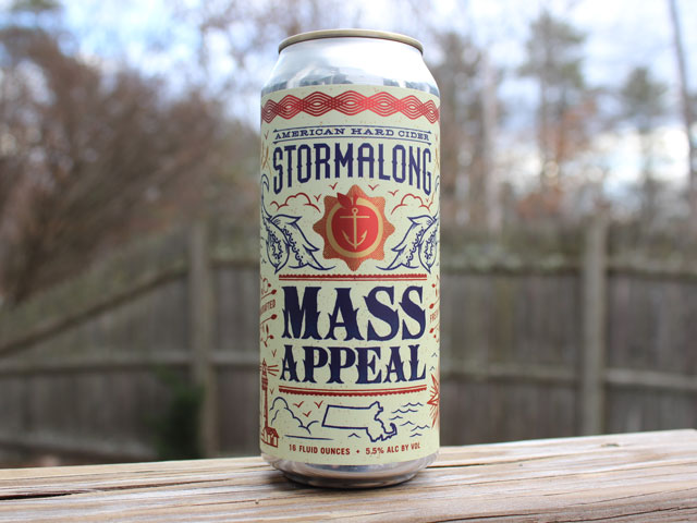 Mass Appeal, a Hard Cider brewed by Stormalong Cider