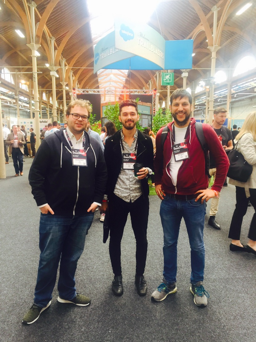 3/4 of the Paddle team at SaaStock