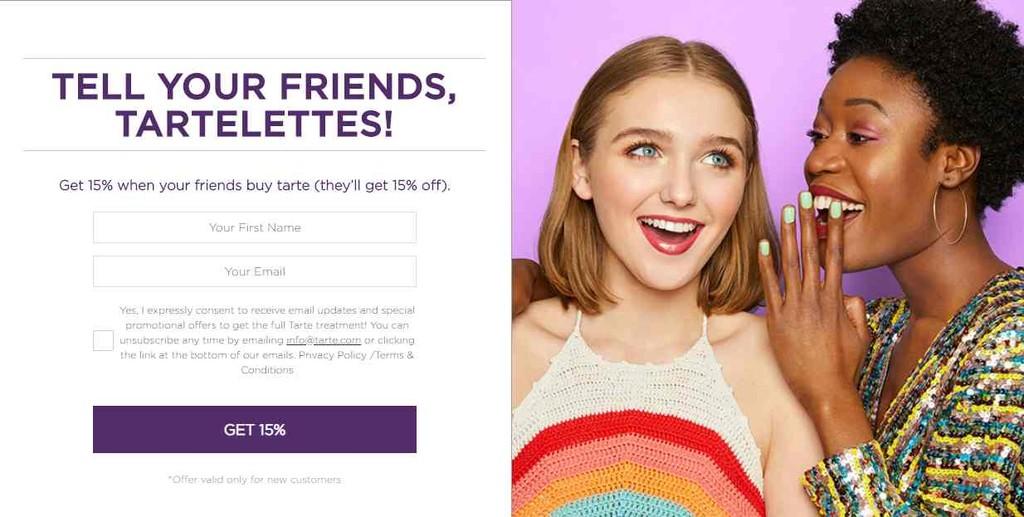 Tarte cosmetics referral program