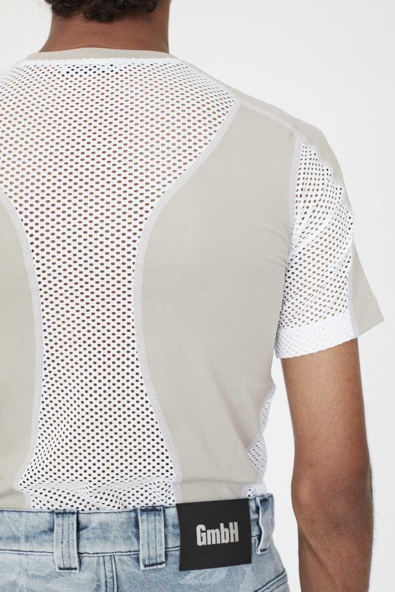 GmbH AW19 Eevan T-Shirt Beige White BACK