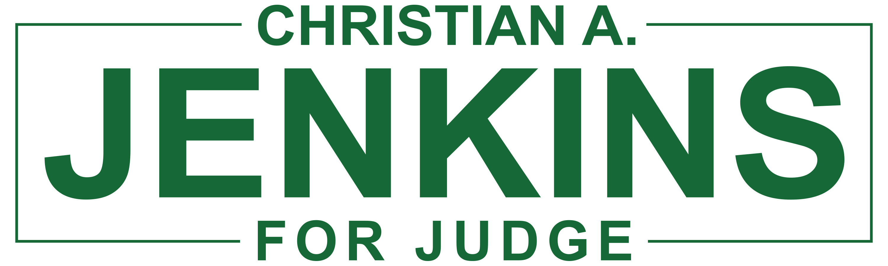 Christian A. Jenkins for Judge