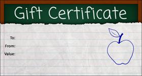 Gift Certificate Template School 01